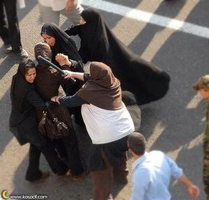 Iranian women rally سرگوبی زنان